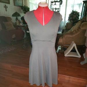 Ann Taylor Petite Gray Dress